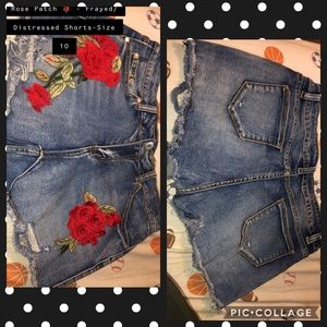 Pants - Rose patch 🌹 shorts! New without tags! Size 10
